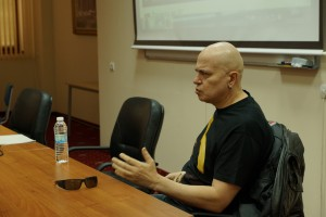 Slavi Trifonov gave a lecture to students at VUZF University